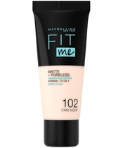 Maybelline Fit Me Matte + Poreless Foundation Normal To Oily 30 ml - 102 Fair Ivory