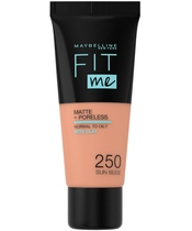 Maybelline Fit Me Matte + Poreless Foundation Normal To Oily 30 ml - 250 Sun Beige