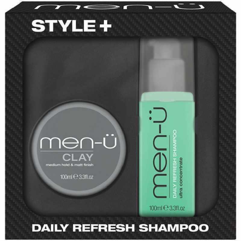 menu Style Daily Refresh Shampoo  Clay Gift Set Limited Edition menu