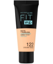 Maybelline Fit Me Matte + Poreless Foundation Normal To Oily 30 ml - 122 Creamy Beige