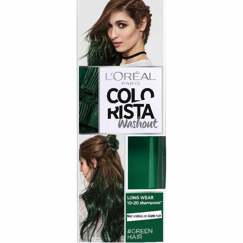 loreal paris colorista washout green hair 80 ml