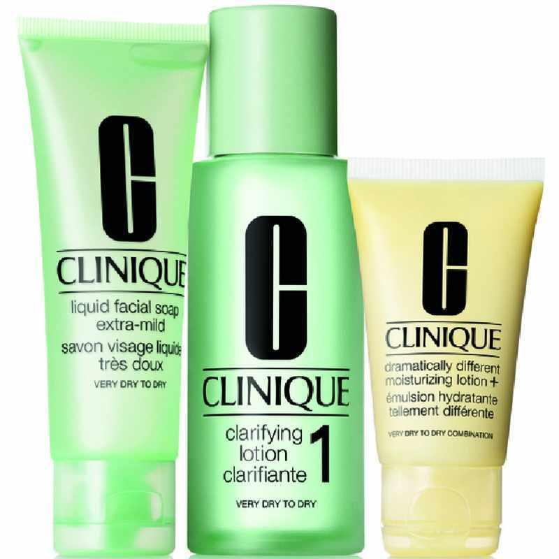 Billede af Clinique 3-step Skin Care Intro Set Type 1 - 180 ml