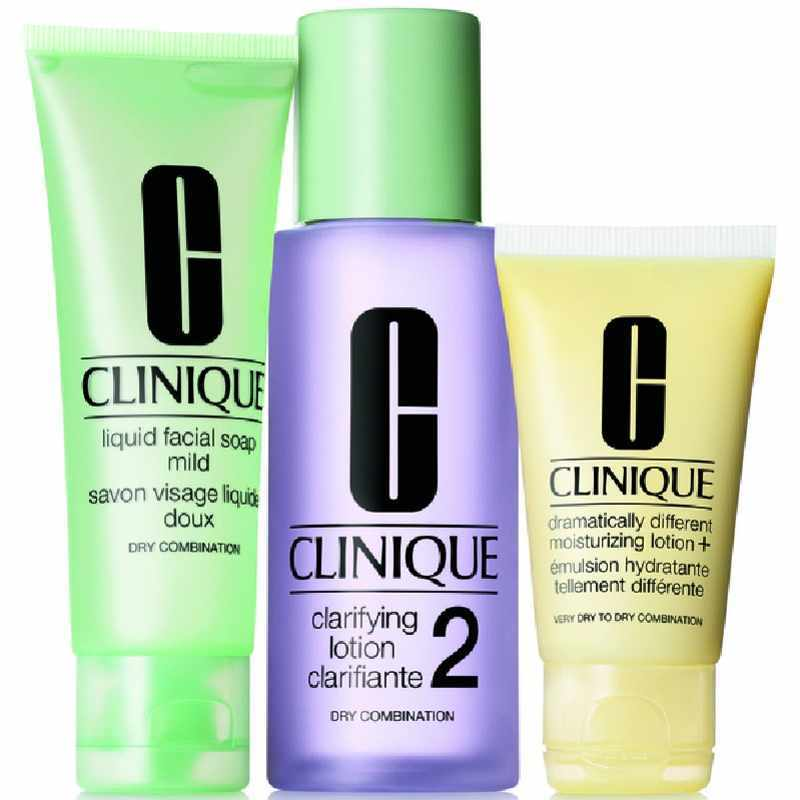 Clinique 3-step Skin Care Intro Set Type 2 - 180 ml thumbnail