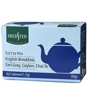 Fredsted Te Mix English Breakfast, Earl Grey, Ceylon, Chai