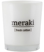 Meraki Scented Candle 5,5 x 6,7 cm - Fresh Cotton