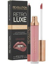 Makeup Revolution Retro Luxe Matte Lip Kit - Grandee