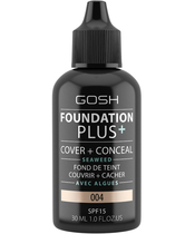 Gosh Foundation Plus+ Cover + Conceal SPF15 30 ml - 004 Natural