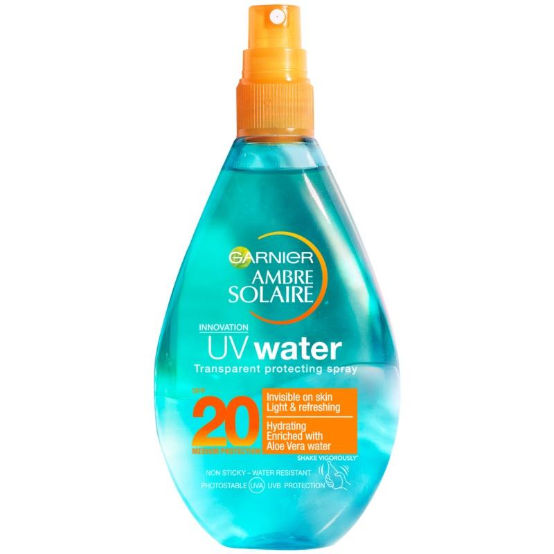 Billede af Garnier Ambre Solaire UV Water Transparent Protecting Spray SPF20 150 ml