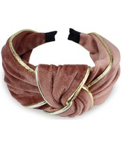 Everneed Velvet Headband - Rose/Gold (8177)