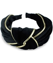 Everneed Velvet Headband - Black/Gold (8153) (U)