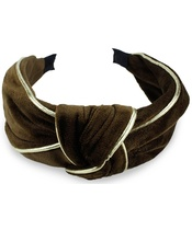 Everneed Velvet Headband - Mocca/Gold (8160)