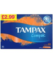 Tampax Compak Super Plus 18 Pieces