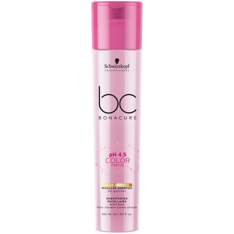 BC pH 4.5 Color Freeze Gold Shimmer Micellar Shampoo 250 ml thumbnail