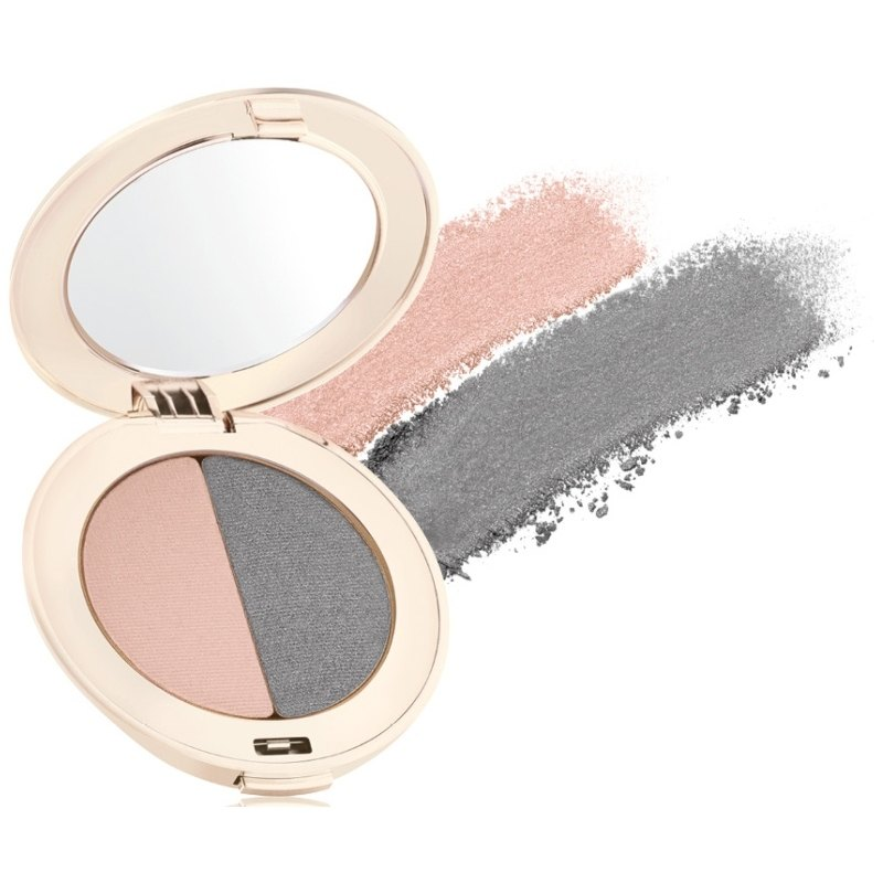 Jane Iredale PurePressed Eye Shadow Duo 2,8 gr. - Hush/Smoky Grey thumbnail