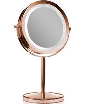 Gillian Jones Stand Light Mirror - Rose Gold