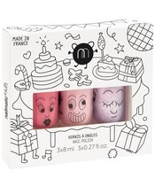 Nailmatic Kids Nail Polish Set 3x8 ml - Party
