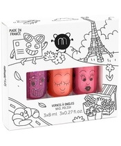 Nailmatic Kids Nail Polish Set 3x8 ml - City
