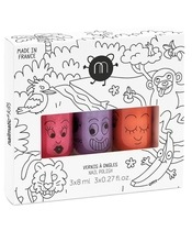 Nailmatic Kids Nail Polish Set 3x8 ml - Jungle
