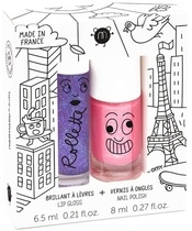 Nailmatic Kids Lip Gloss And Nail Polish Set - Lovely City