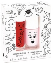 Nailmatic Kids Lip Gloss And Nail Polish Set - Kids Cottage