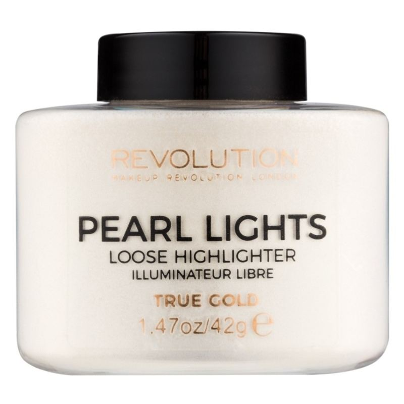 Billede af Makeup Revolution Pearl Lights Loose Highlighter 35 gr. - True Gold