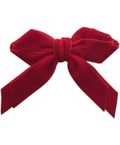 Göng Accessories Annamay Velvet Bow - Red