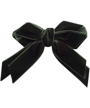 Göng Accessories Annamay Velvet Bow - Green (U)