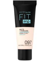 Maybelline Fit Me Matte + Poreless Foundation Normal To Oily 30 ml - 097 Natural Porcelain (U)