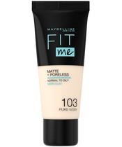 Maybelline Fit Me Matte + Poreless Foundation Normal To Oily 30 ml - 103 Pure Ivory