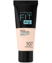 Maybelline Fit Me Matte + Poreless Foundation Normal To Oily 30 ml - 107 Rose Beige