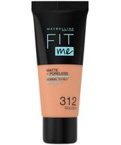 Maybelline Fit Me Matte + Poreless Foundation Normal To Oily 30 ml - 312 Golden