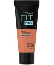 Maybelline Fit Me Matte + Poreless Foundation Normal To Oily 30 ml - 358 Latte