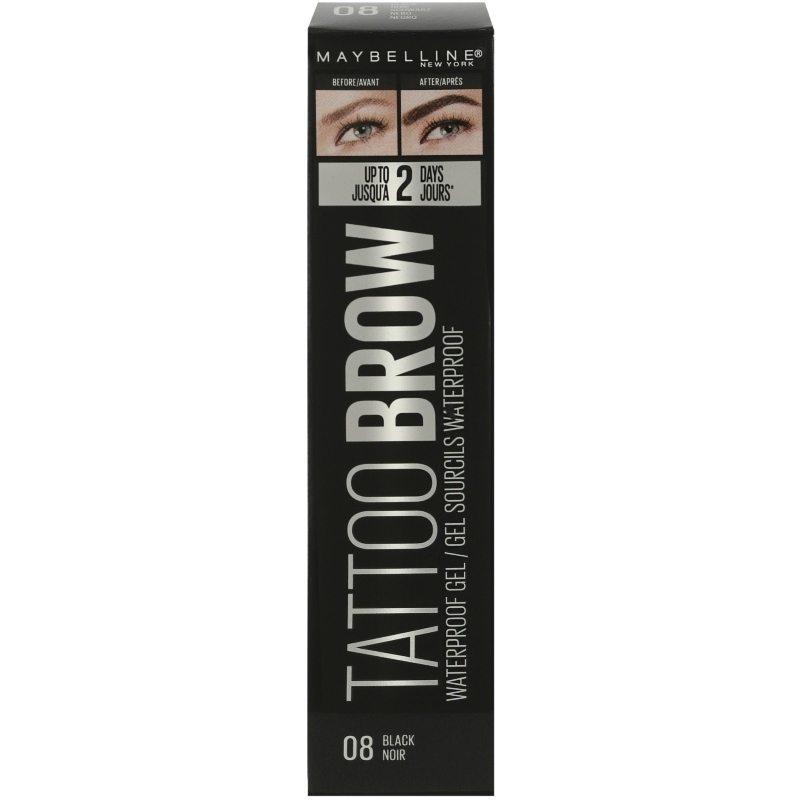 Maybelline Tattoo Brow Waterproof Gel 5 ml - 08 Black