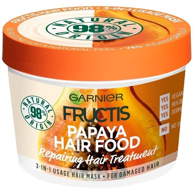 Garnier Fructis Papaya Hair Food 3-in-1 Mask Damaged Hair 390 ml thumbnail