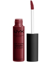 NYX Prof. Makeup Soft Matte Metallic Lip Cream 6,7 ml - Budapest (U)