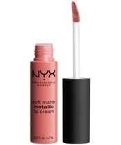 NYX Prof. Makeup Soft Matte Metallic Lip Cream 6,7 ml - Cannes (U)