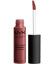 NYX Prof. Makeup Soft Matte Metallic Lip Cream 6,7 ml - Rome (U)