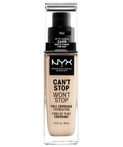 NYX Prof. Makeup Can't Stop Won't Stop Foundation 30 ml - Pale