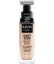 NYX Prof. Makeup Can't Stop Won't Stop Foundation 30 ml - Light Porcelain