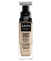 NYX Prof. Makeup Can't Stop Won't Stop Foundation 30 ml - Fair (U)