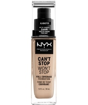 NYX Prof. Makeup Can't Stop Won't Stop Foundation 30 ml - Alabaster