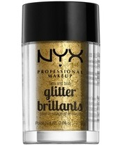NYX Prof. Makeup Face & Body Glitter Brillants 2,5 gr. - Gold