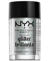 NYX Prof. Makeup Face & Body Glitter Brillants 2,5 gr. - Ice