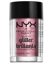 NYX Prof. Makeup Face & Body Glitter Brillants 2,5 gr. - Rose
