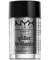 NYX Prof. Makeup Face & Body Glitter Brillants 2,5 gr. - Silver