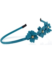 Everneed Mynte Hairband W. Flowers - Petrolium (2128)