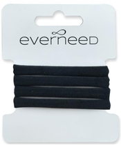 Everneed Plain Soft Rubber Hair Elastics - Black (4238)