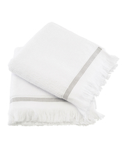 Meraki Towel White W. Grey Stripes 50 x 100 cm - 2 Pieces (U)