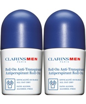 Clarins Men Daily Value Pack Roll-On Deodorant Duo (Limited Edition)