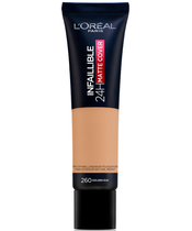 L'Oreal Paris Cosmetics Infaillible 24H Matte Cover Foundation 30 ml - 260 Golden Sun
